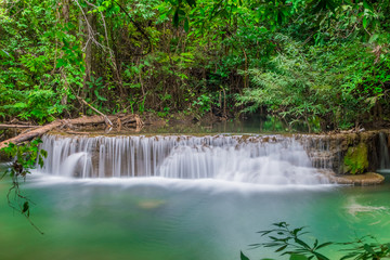 Beautiful water stream of waterfall