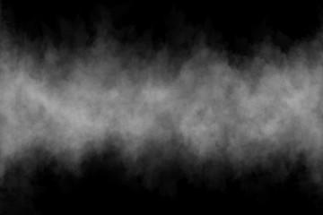 Mgła lub dym na czarnym tle