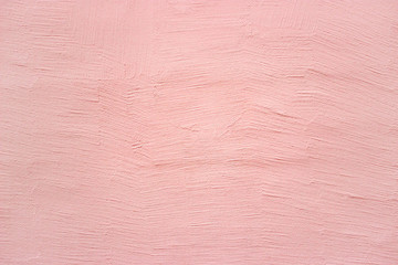 Pink wall, texture plaster, concrete surface as a background