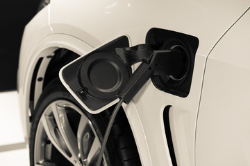 Power supply electric car hybrid charging , technology energy transport automobile