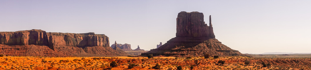 National Park Monument Valley. Stony mystical valley at dawn