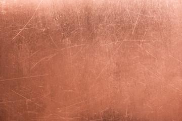stara metalowa płyta, szczotkowana tekstura miedzi, brązowe tło