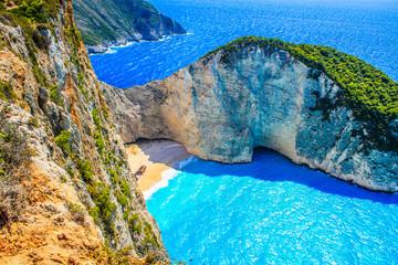 Most Incredible Navagio Beach or Shipwreck Beach. Zakynthos, Greece.
