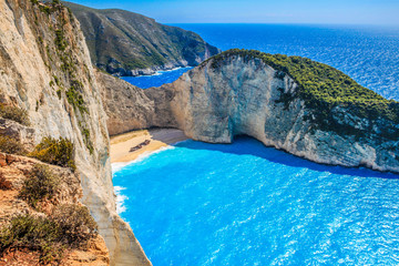 Most Incredible Navagio Beach or Shipwreck Beach. Zakynthos, Greece.