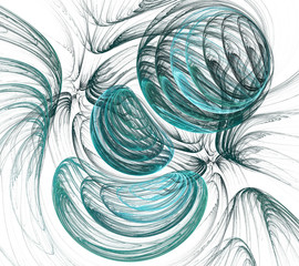 fractal blue smoky marbles