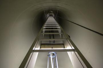 Interior of Wind Turbine Pole