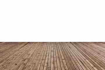wooden floor isolated