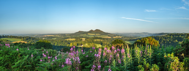 Scott's View looking to the Eildon Hills in the Scottish Borders. Scotland UK, Europe