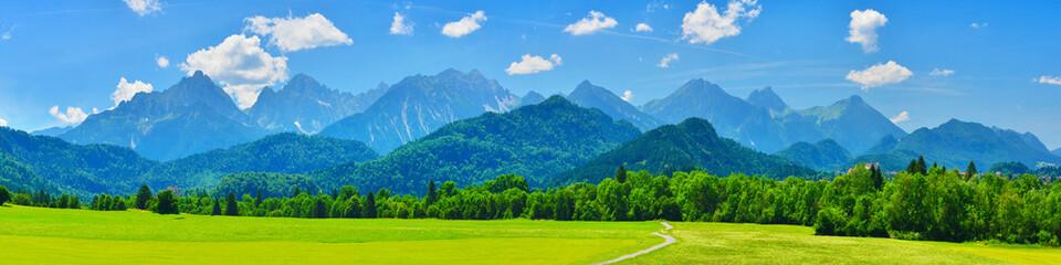Summer mountains panorama, Schwangau, Germany