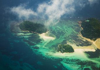 Seychelles from the airplane