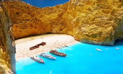 island of Zakynthos. Bay Navagio