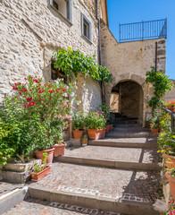 Scenic sight in Villalago, rural village in the province of L'Aquila, Abruzzo, central Italy.