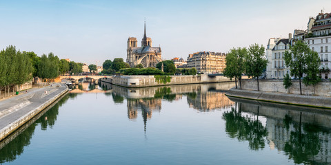 Notred Dame und Ile de la Cite in Paris, Frankreich