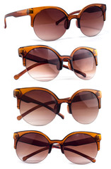 Women's sunglasses with brown glass