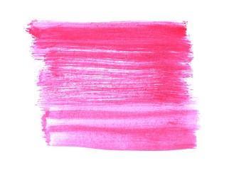 Unordentliche Pinselstriche mit rosa roter Farbe