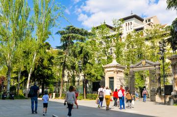 Botanical garden in Madrid, Spain