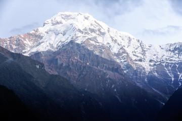 High mountains in the Himalaya, Pokhara, Nepa
