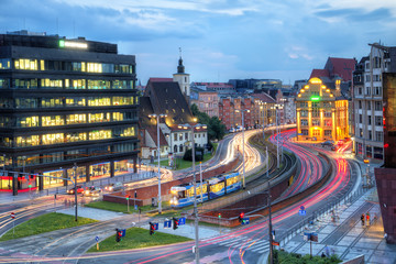 Wroclaw evening city view