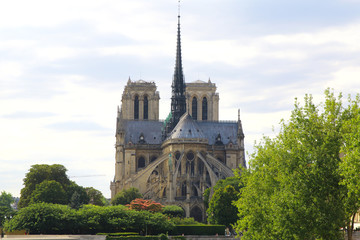 Notre dame cathedral de Paris, France. before tragic fire