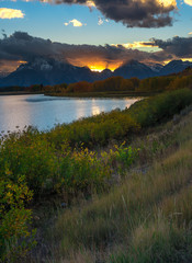 Oxbow Bend Point during sunset