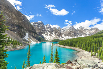 Moraine lake in banff national park, canadian rockies, canada / alberta / brtish columbia