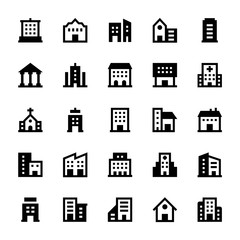 Buildings Vector Icons 2