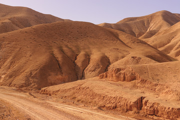 The sand desert - the sea level in Israel