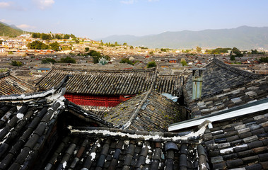 Lijiang ancient town scenery in Yunnan province,China.