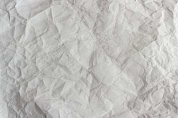 Wrinkled white sheet of paper