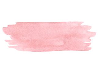 Vector hand painted pink texture isolated on the white background.