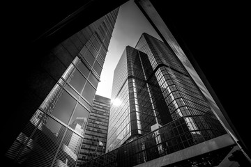 Hong Kong Architecture Black And White
