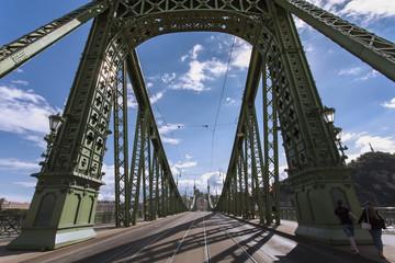 Architektura Mostu Wolności w Budapeszcie na Węgrzech