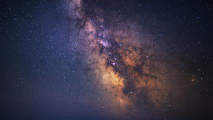 Wyraźnie galaktyka Drogi Mlecznej w ciemną noc