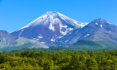 Avachinsky volcano in Kamchatka in the autumn