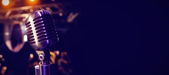 Retro microphone at concert