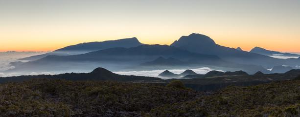 Sunset Over Piton Des Neiges, La Reunion, France