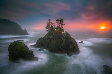 The Oregon coast sunset