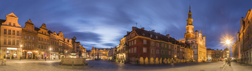 evening panorama of Poznan
