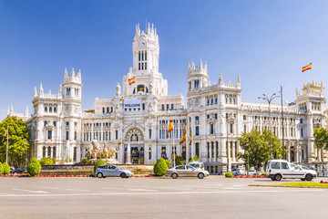 Plaza Cibeles In Madrid, Spain