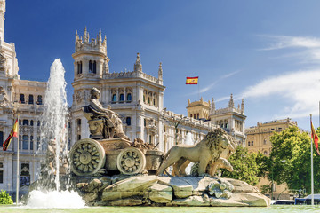 fountain of Cibeles In Madrid, Spain