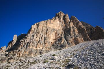 panorama sulle dolomiti, nei pressi delle tre cime di Lavaredo