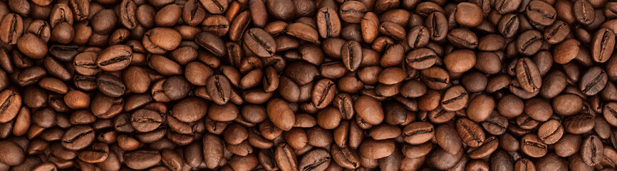 background panorama beans coffee