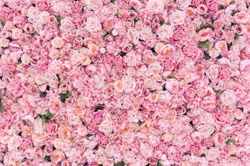 Piękne różowe kwiaty w tle