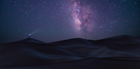 Sahara under the Milky Way