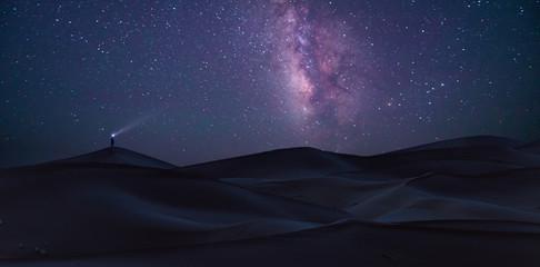 Sahara under the Milky Way