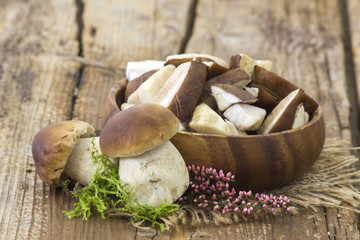 fresh mushrooms in a bowl
