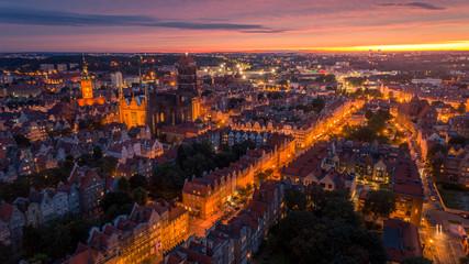Zachód słońca w Gdańsku