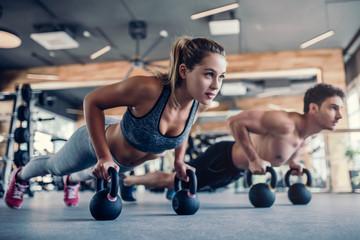 Para w siłowni
