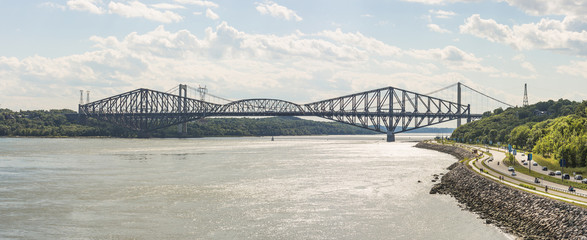 Quebec Bridge is a riveted steel truss structure