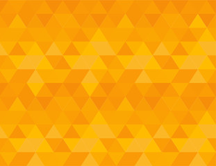 Bright orange background, repeating seamless vector pattern in vibrant shades. Strong energy, for positive thinking, optimism and happiness.